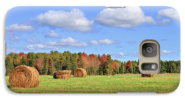 Rolls Of Hay On A Beautiful Day Galaxy S7 Case