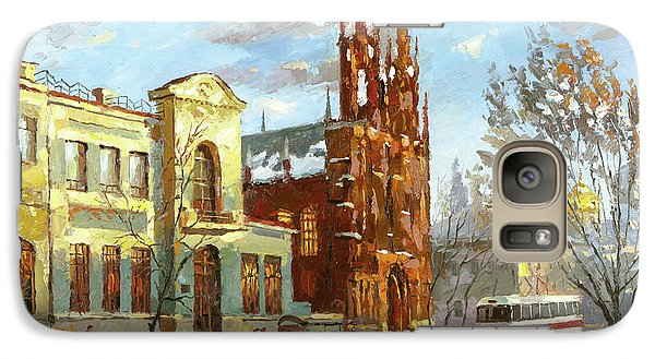 Galaxy Case featuring the painting Roman Catholic Church by Dmitry Spiros