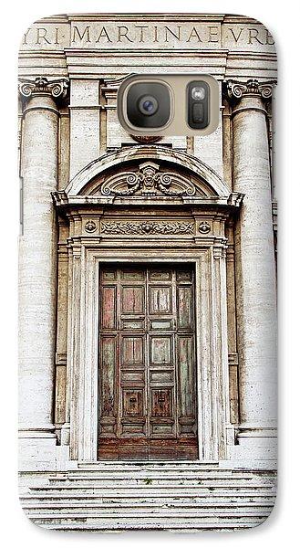 Galaxy Case featuring the photograph Roman Doors - Door Photography - Rome, Italy by Melanie Alexandra Price