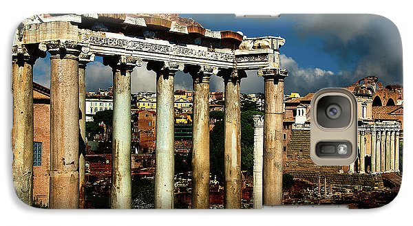 Galaxy Case featuring the photograph Roman Forum by Harry Spitz