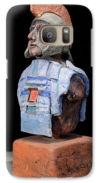 Galaxy Case featuring the sculpture Roman Legionaire - Warrior - Ancient Rome - Roemer - Romeinen - Antichi Romani - Romains - Romarere by Urft Valley Art