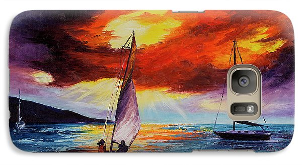 Galaxy Case featuring the painting Romancing The Sail by Darice Machel McGuire