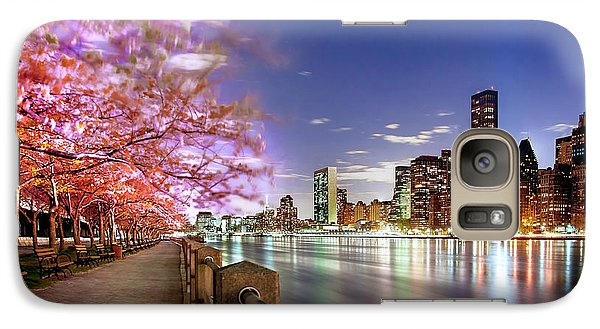 Empire State Building Galaxy S7 Case - Romantic Blooms by Az Jackson
