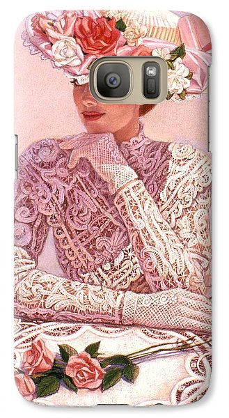 Galaxy Case featuring the painting Romantic Lady by Sue Halstenberg