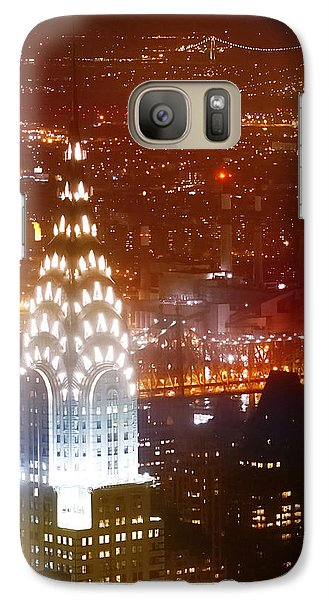 Romantic Manhattan Galaxy Case by Az Jackson