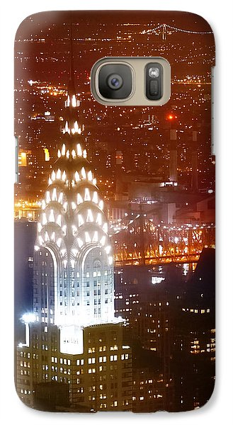 Chrysler Building Galaxy S7 Case - Romantic Manhattan by Az Jackson