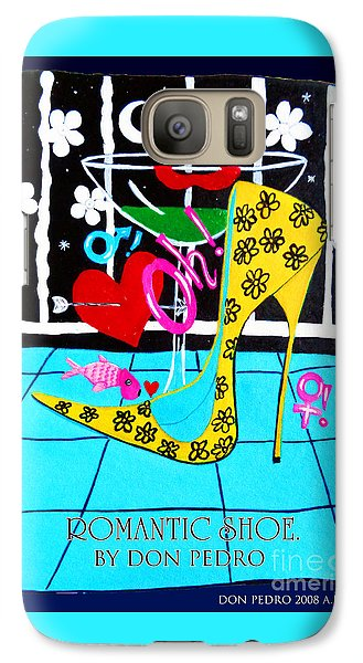 Galaxy Case featuring the painting Romantic Shoe by Don Pedro De Gracia