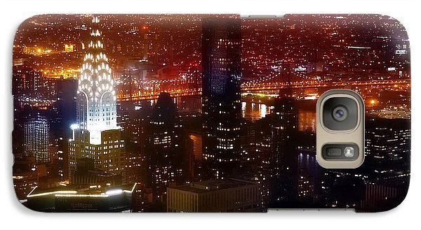 Chrysler Building Galaxy S7 Case - Romantic Skyline by Az Jackson