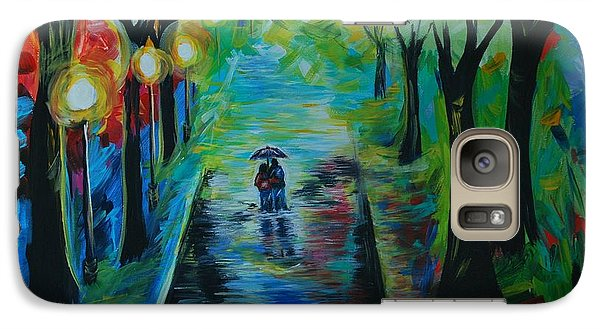 Galaxy Case featuring the painting Romantic Stroll by Leslie Allen