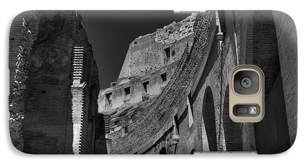 Galaxy Case featuring the photograph Rome - The Colosseum 001 Bw by Lance Vaughn