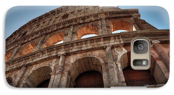 Galaxy Case featuring the photograph Rome - The Colosseum 003 by Lance Vaughn