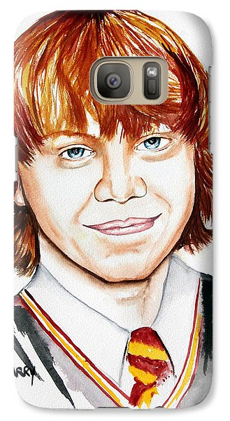 Galaxy Case featuring the painting Ron Weasley by Maria Barry