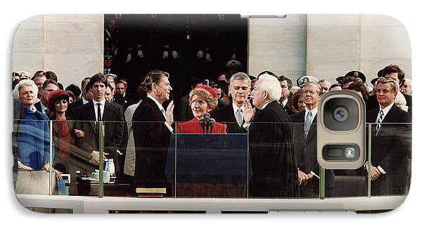 George Bush Galaxy S7 Case - Ronald Reagan Inauguration - 1981 by War Is Hell Store
