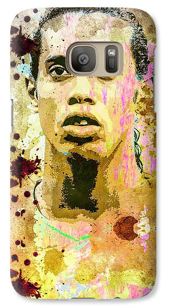 Galaxy Case featuring the mixed media Ronaldinho Gaucho by Svelby Art