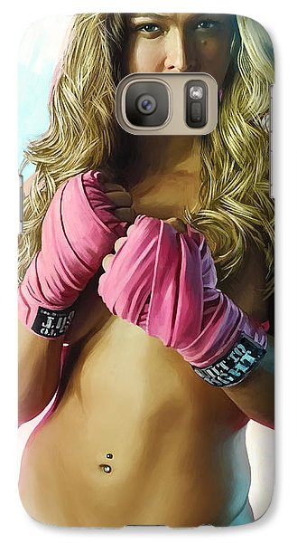 Galaxy Case featuring the painting Ronda Rousey Artwork  by Sheraz A