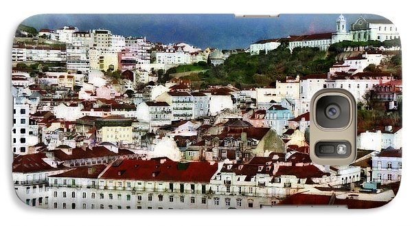 Galaxy Case featuring the photograph Roofs Of Lisbon by Dariusz Gudowicz