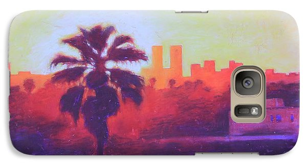 Galaxy Case featuring the painting Rooftop Glow by Andrew Danielsen