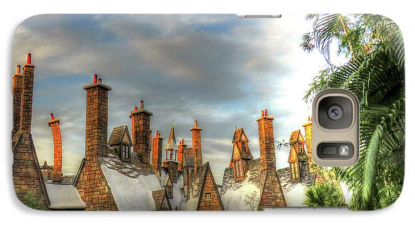 Galaxy Case featuring the photograph rooftops Hogsmeade by Tom Prendergast