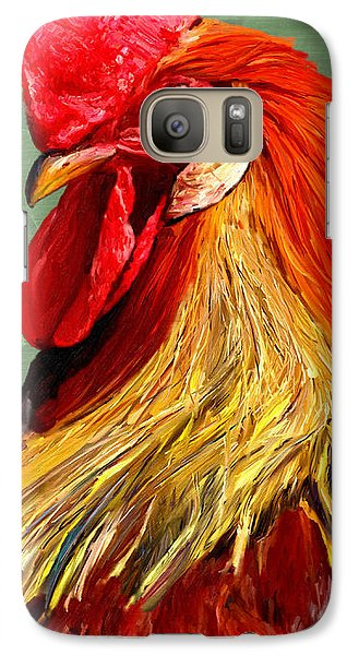 Galaxy Case featuring the digital art Rooster 1 by James Shepherd