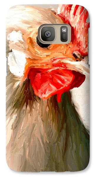 Galaxy Case featuring the digital art Rooster 2 by James Shepherd