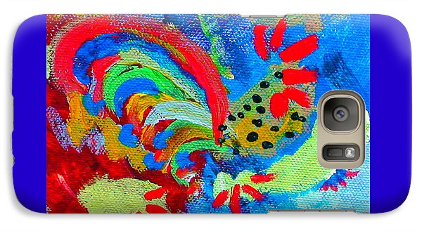 Galaxy Case featuring the painting Rooster In The Sky From The Fairy Queen by Angela Annas