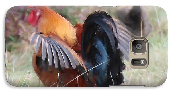 Galaxy Case featuring the painting Rooster by Jan Daniels