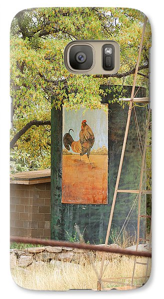 Galaxy Case featuring the photograph Rooster Water Tank by Donna Greene