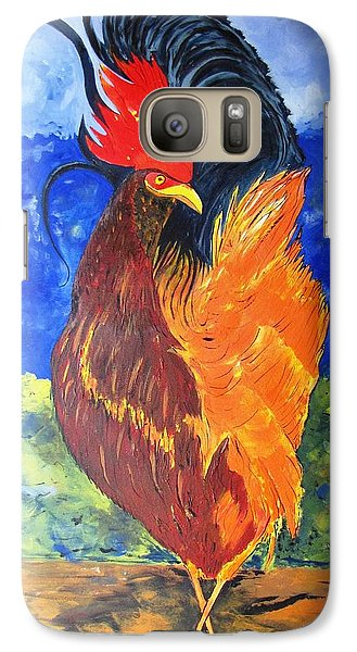 Galaxy Case featuring the painting Rooster With Attitude by Gary Smith
