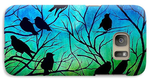 Galaxy Case featuring the painting Roosting Birds by Susan DeLain