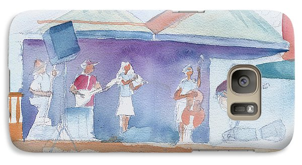 Galaxy Case featuring the painting Roots Retreat Bluegrass by David Sockrider