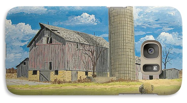Galaxy Case featuring the painting Rorabeck Barn by Norm Starks