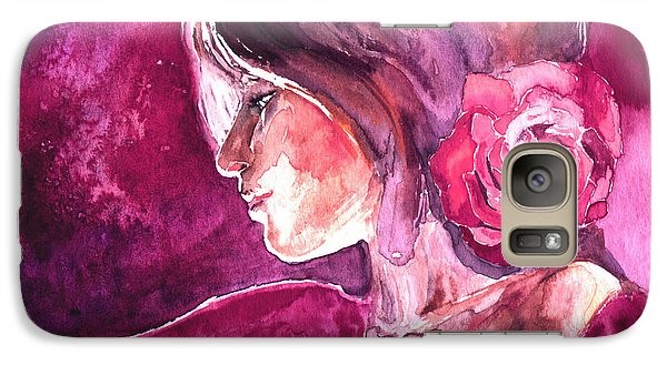 Galaxy Case featuring the painting Rosa by Ragen Mendenhall