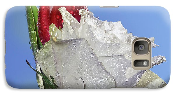 Galaxy Case featuring the photograph Rose And Tulip by Elvira Ladocki