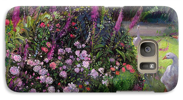 Rose Bed And Geese Galaxy S7 Case by Timothy Easton