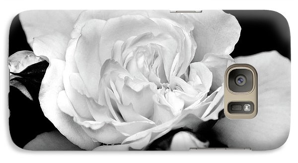 Galaxy S7 Case featuring the photograph Rose Black And White by Christina Rollo