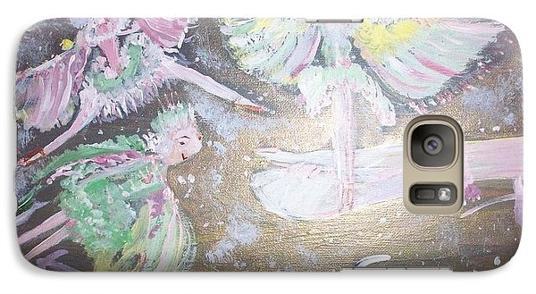 Galaxy Case featuring the painting Rose Fairies by Judith Desrosiers