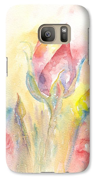 Galaxy Case featuring the painting Rose Garden Two by Elizabeth Lock