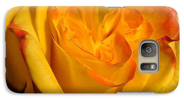 Galaxy Case featuring the photograph Rose Heart by Margaret Bobb