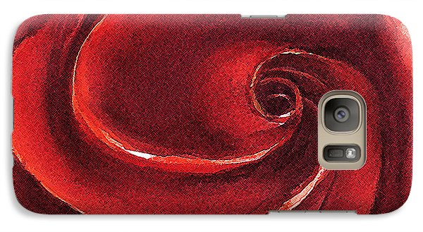 Galaxy Case featuring the painting Rose In Stone by Allison Ashton