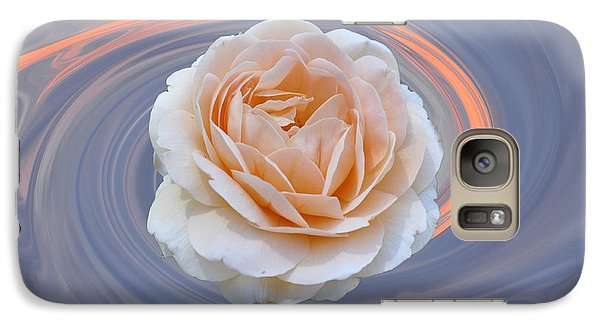 Galaxy Case featuring the photograph Rose In Swirl by Helen Haw