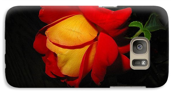 Galaxy Case featuring the photograph Rose Of Fire by Joyce Dickens