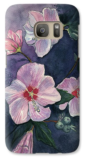Galaxy Case featuring the painting Rose Of Sharon by Katherine Miller