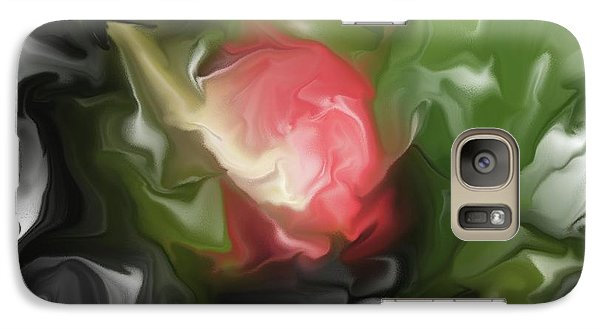 Galaxy Case featuring the mixed media Rose On Troubled Water by Hai Pham