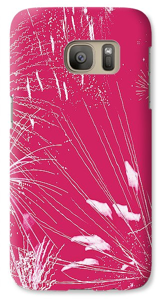 Galaxy Case featuring the digital art Rose Splash by Methune Hively
