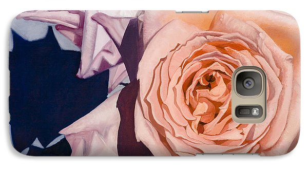 Galaxy Case featuring the painting Rose Splendour by Kerryn Madsen-Pietsch