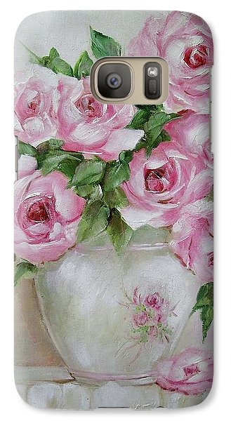 Galaxy Case featuring the painting Rose Vase by Chris Hobel