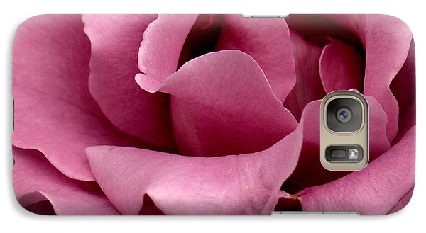 Galaxy Case featuring the photograph Rose Violet Waves by Barbara Middleton