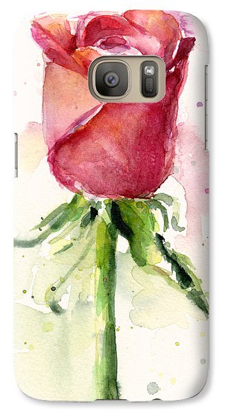 Rose Watercolor Galaxy Case by Olga Shvartsur