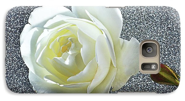 Galaxy Case featuring the photograph Rose With Some Sparkle by Terence Davis