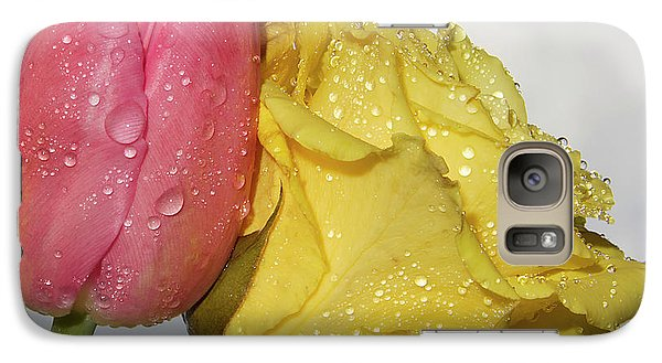 Galaxy Case featuring the photograph Rose With Tulip by Elvira Ladocki